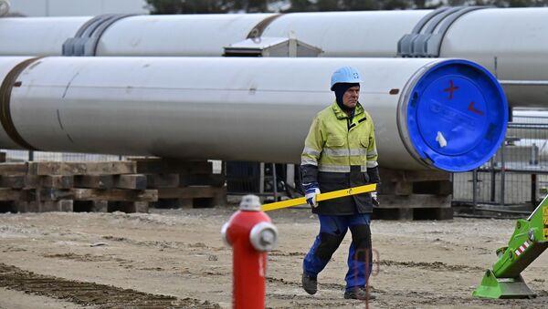 Строительство газопровода Северный поток-2  - Sputnik Азербайджан