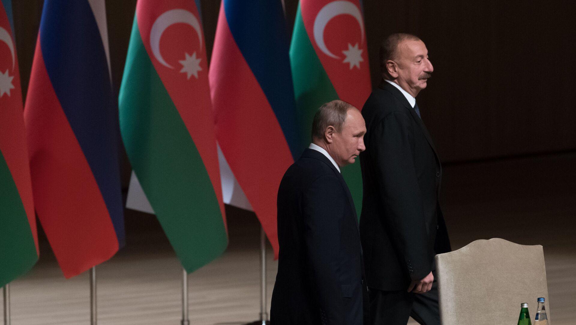 Президент РФ Владимир Путин и президент Азербайджана Ильхам Алиев - Sputnik Azərbaycan, 1920, 15.08.2021