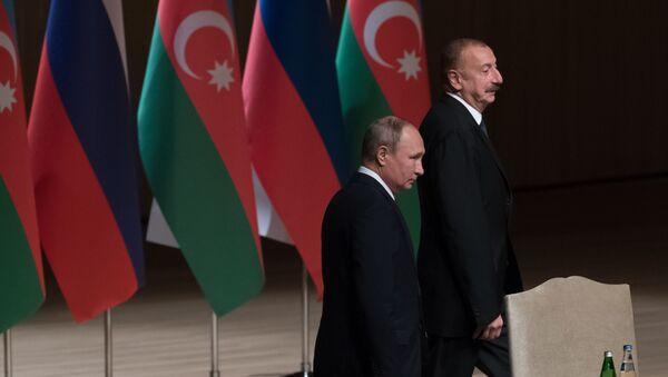 Президент РФ Владимир Путин и президент Азербайджана Ильхам Алиев - Sputnik Азербайджан