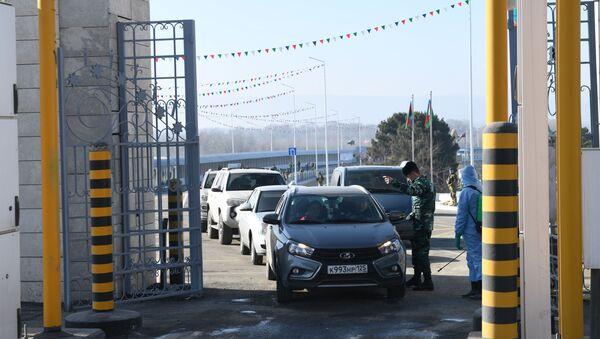 Церемония открытия моста на реке Самур между Азербайджаном и Россией - Sputnik Azərbaycan