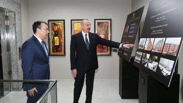 Prezident İlham Əliyev 2 saylı DOST mərkəzinin açılışında - Sputnik Азербайджан