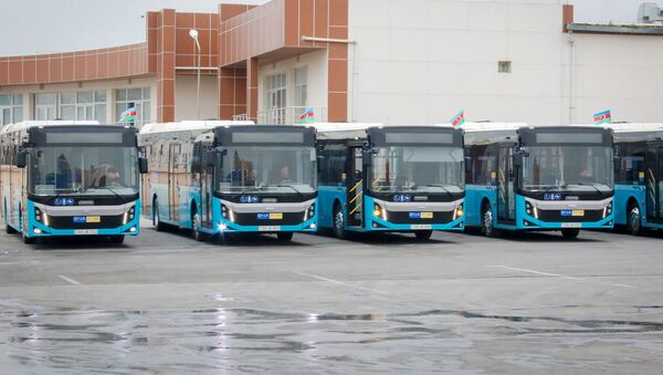 12 metrlik BMC Procity markalı avtobus - Sputnik Азербайджан