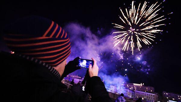Празднование Нового года в городах России - Sputnik Azərbaycan