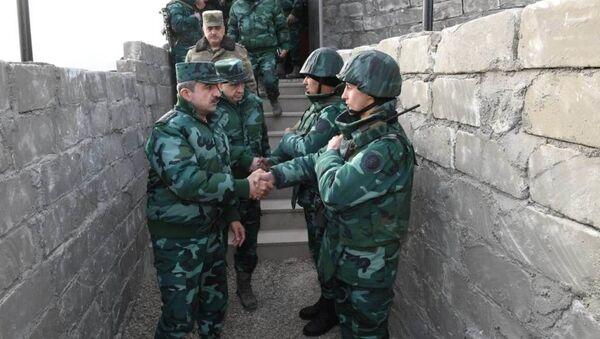 Генерал-полковник Магеррам Алиев совместно с начальником ГПС Азербайджана посетил дивизию - Sputnik Азербайджан