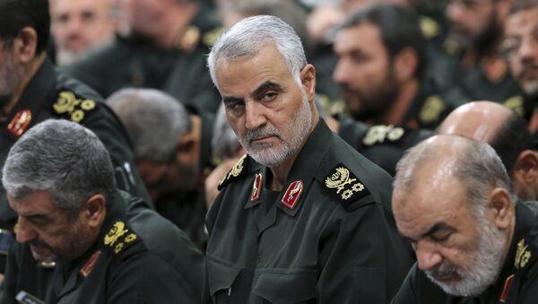 Главы спецподразделения «Аль-Кудс» Корпуса стражей исламской революции (КСИР,) генерал Касем Сулеймани, фото из архива - Sputnik Азербайджан