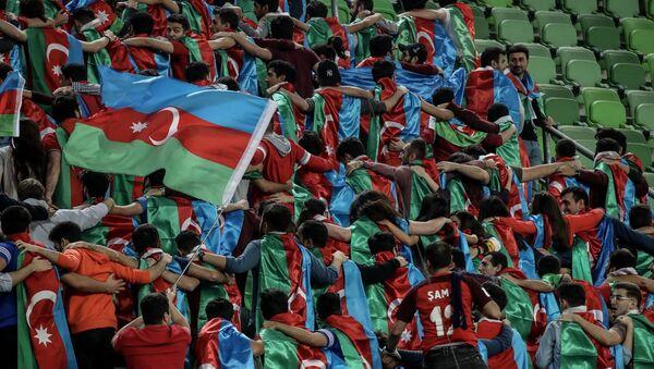 Фанаты сборной Азербайджана, фото из архива - Sputnik Азербайджан