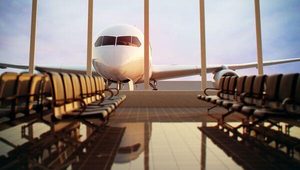 Зал ожидания в аэропорту, фото из архива - Sputnik Azərbaycan