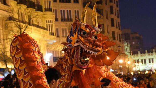 Празднование китайского лунного Нового года, фото из архива - Sputnik Азербайджан