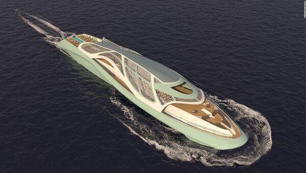 Итальянский архитектор представила концепт супер-яхты будущего - Sputnik Азербайджан