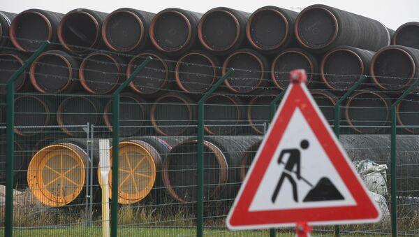 Трубы для строительства газопровода, фото из архива - Sputnik Азербайджан