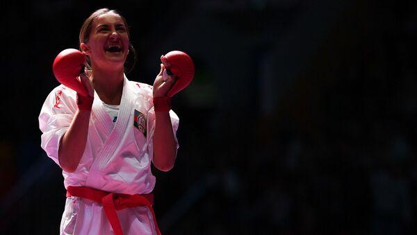 Азербайджанская каратистка Ирина Зарецкая, фото из архива - Sputnik Азербайджан