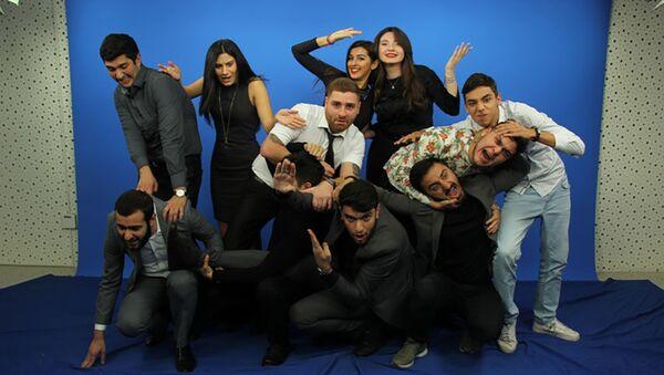 Азербайджанская команда КВН «Сборная телевизионных ведущих» - Sputnik Азербайджан