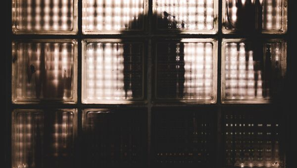 Силуэт человека за стеклянными блоками - Sputnik Azərbaycan