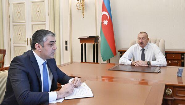 Президент Ильхам Алиев принял министра транспорта, связи и высоких технологий Рамина Гулузаде - Sputnik Азербайджан