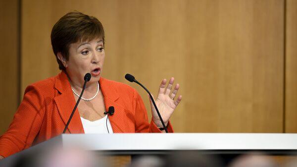 Генеральный директор МВФ Кристалина Георгиева - Sputnik Азербайджан