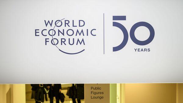 Эмблема Всемирного экономического форума в Давосе, Швейцария, 20 января 2020 года - Sputnik Азербайджан