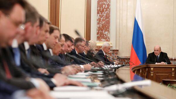 Заседание правительства РФ - Sputnik Азербайджан