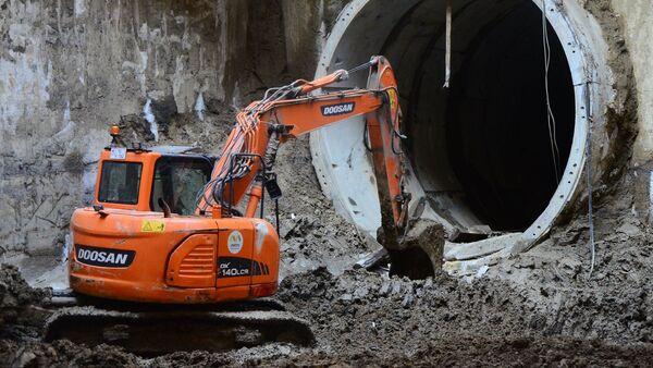 Строительство метро, фото из архива - Sputnik Азербайджан