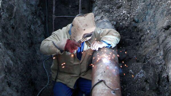 Ремонтные работы на газопроводах, фото из архива - Sputnik Азербайджан