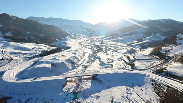 Alpan-Kürkün-Susay istiqamətində təmir işləri - Sputnik Азербайджан