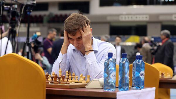 Российский гроссмейстер Сергей Карякин, фото из архива - Sputnik Азербайджан