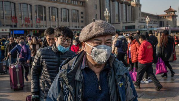 Пекин, ситуация в связи с эпидемиологической обстановкой в Китае - Sputnik Azərbaycan