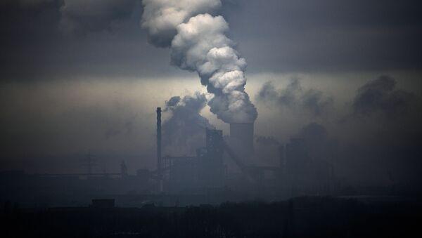 Угольная электростанция, фото из архива - Sputnik Azərbaycan
