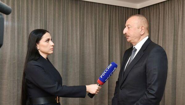 Интервью президента Азербайджана Ильхама Алиева российскому телеканалу Россия-24 - Sputnik Азербайджан