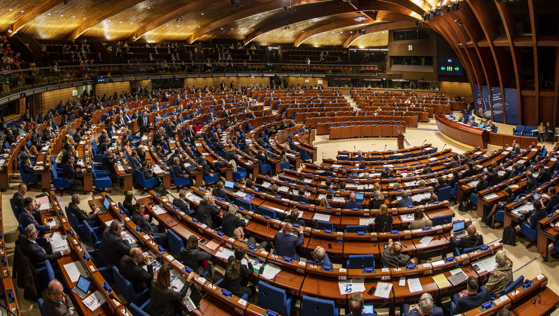 Заседание зимней сессии Парламентской ассамблеи Совета Европы (ПАСЕ) во французском Страсбурге, 27 января 2020 - Sputnik Азербайджан, 1920, 22.04.2021