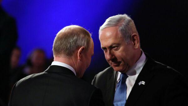 Президент России Владимир Путин и премьер-министр Израиля Биньямин Нетаньяху - Sputnik Азербайджан