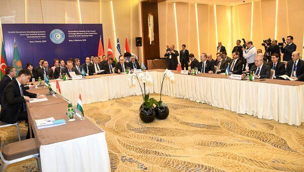 Внеочередное заседание Совета министров иностранных дел Совета сотрудничества тюркоязычных государств (Тюркского совета) в Баку, 6 февраля 2020 года - Sputnik Азербайджан