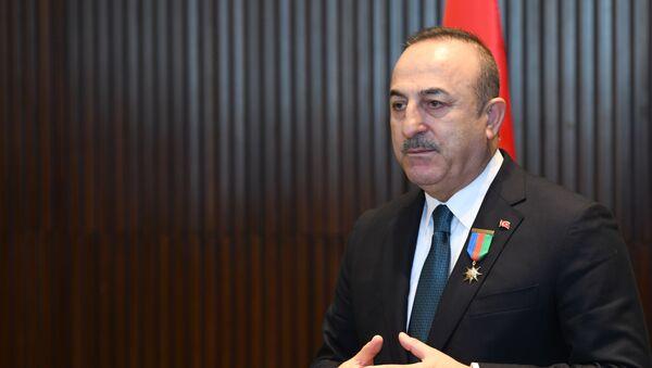 Министр иностранных дел Турции Мевлют Чавушоглу - Sputnik Azərbaycan
