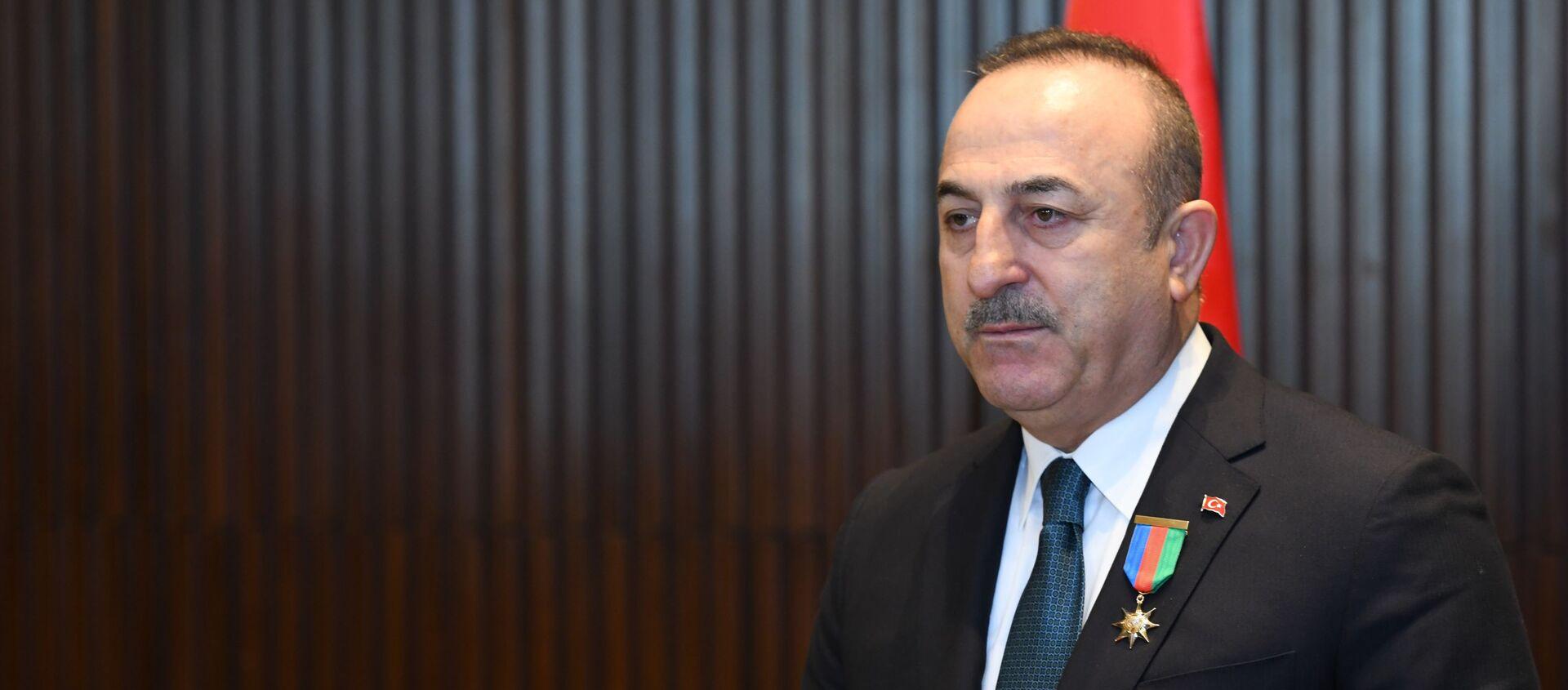 Министр иностранных дел Турции Мевлют Чавушоглу - Sputnik Азербайджан, 1920, 23.02.2021
