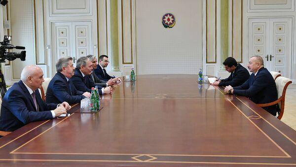 Prezident İlham Əliyev Rusiya Dövlət Dumasının nümayəndə heyətini qəbul edib - Sputnik Азербайджан