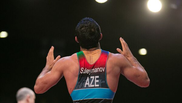 Азербайджанский борец греко-римского стиля Санан Сулейманов, фото из архива - Sputnik Азербайджан