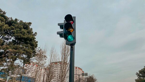 Светофор в Баку, фото из архива - Sputnik Азербайджан