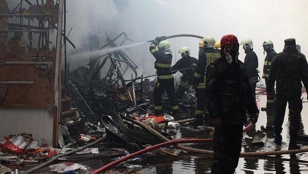 Пожар в Садараке, 18 февраля 2020 года - Sputnik Азербайджан