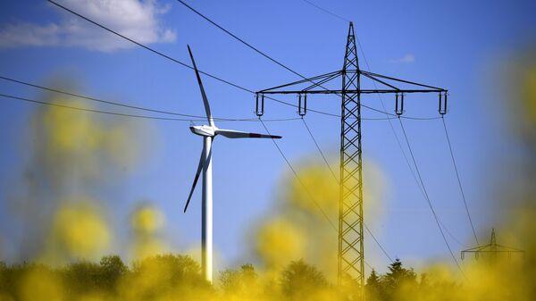 Ветряная электростанция, фото из архива - Sputnik Азербайджан