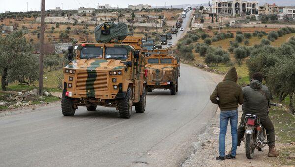 Турецкий военный конвой в Идлибе, фото из архива - Sputnik Азербайджан