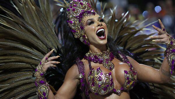 Открытие бразильского карнавала в Сан-Паулу, Бразилия - Sputnik Азербайджан