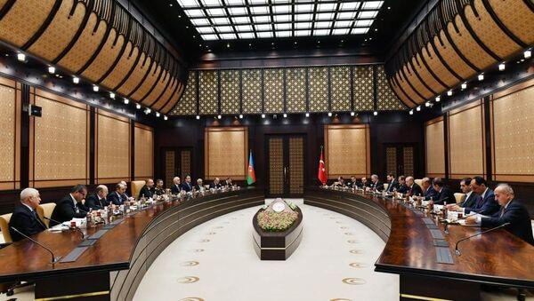 Заседание Высшего совета стратегического партнерства Азербайджана и Турции, фото из архива - Sputnik Азербайджан