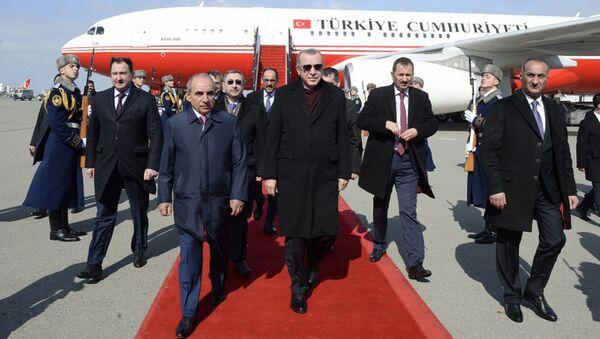 Türkiyə Prezidenti Rəcəb Tayyib Ərdoğan Azərbaycana səfərə gəlib - Sputnik Азербайджан