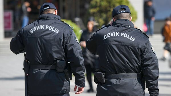 Сотрудник полиции, фото из архива  - Sputnik Азербайджан