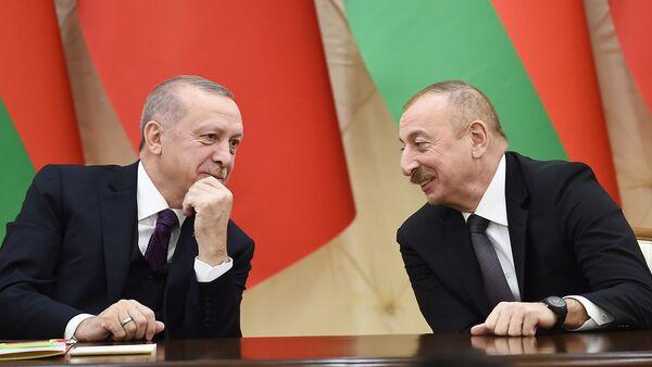 Подписание азербайджано-турецких документов - Sputnik Азербайджан