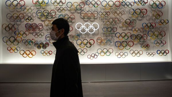 Перед Олимпийским музеем Японии, фото из архива - Sputnik Азербайджан