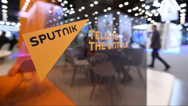 Стенд международного информационного агентства и радио Sputnik - Sputnik Азербайджан