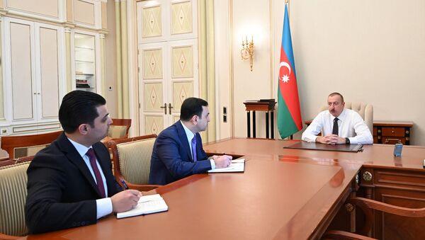Prezident İlham Əliyev yeni icra başçılarını qəbul etdi - Sputnik Азербайджан