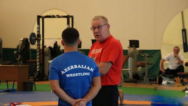 Главный тренер сборной Азербайджана по греко-римской борьбе Александр Тараканов, фото из архива - Sputnik Азербайджан