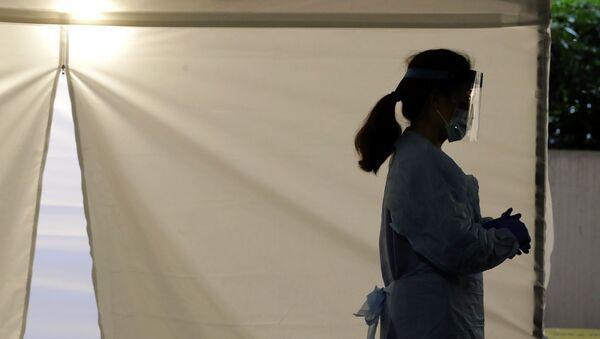 Врач одной из поликлиник, фото из архива - Sputnik Азербайджан
