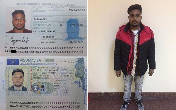 Иностранец с поддельным документом - Sputnik Азербайджан